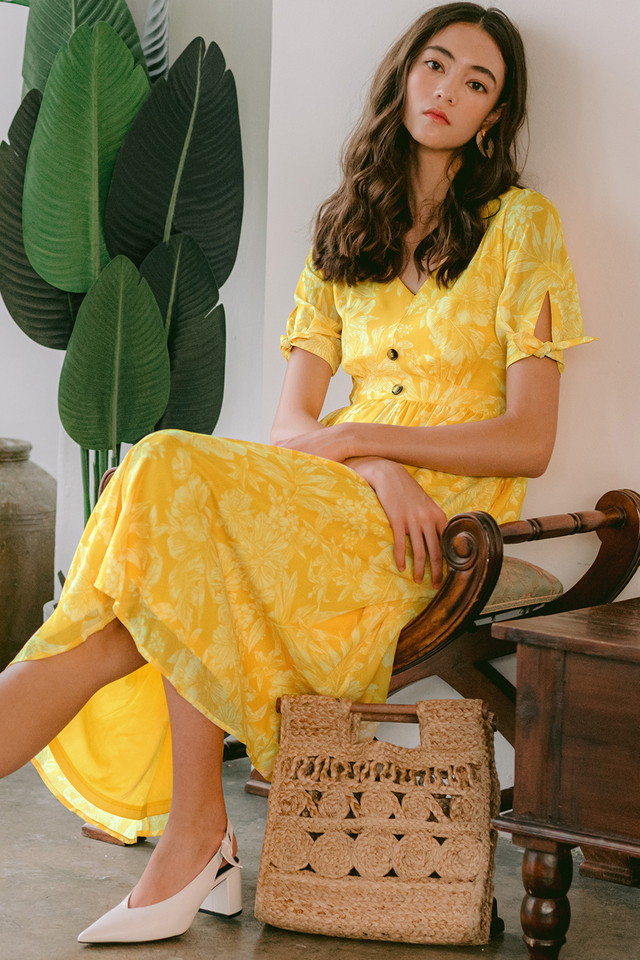 FREYA MIDI IN YELLOW