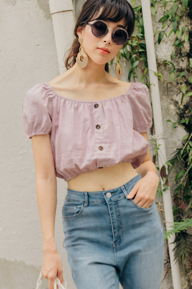IRINA OFF SHOULDER TOP IN LAVENDER PINK