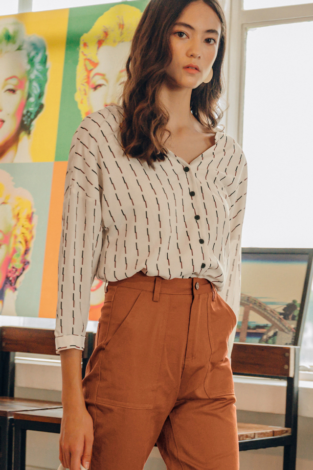 NED TWO-WAY TOP IN LIGHT BEIGE
