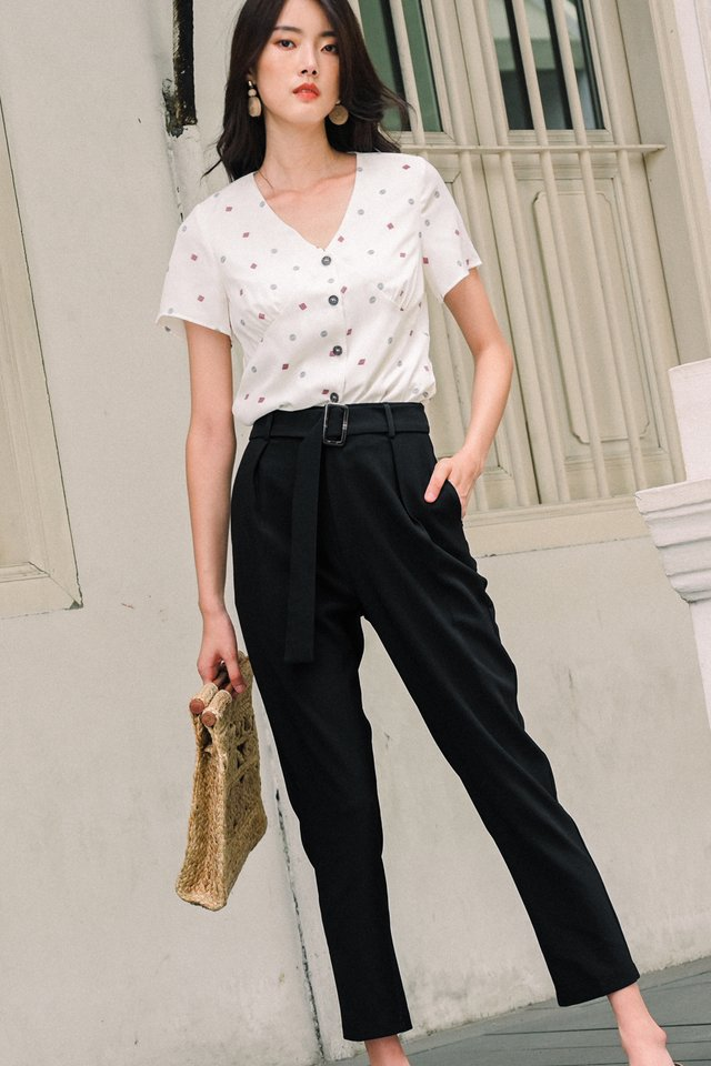 ALANA BUCKLE PANTS IN BLACK