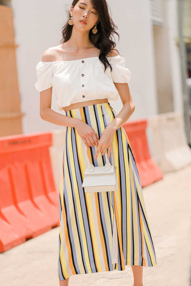 DENVER STRIPE MAXI IN YELLOW