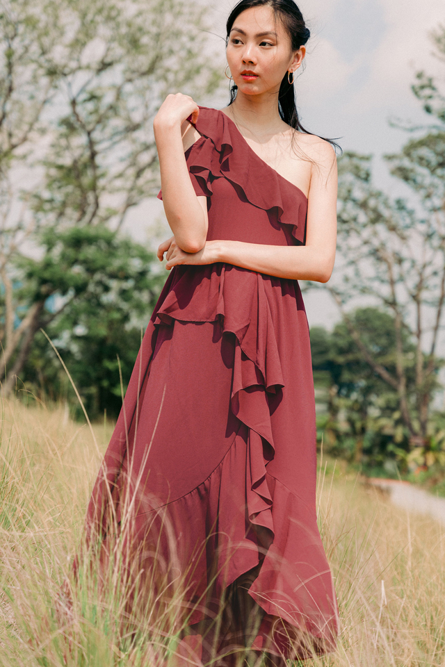 ELVITA TOGA MAXI IN DUSK ROSE