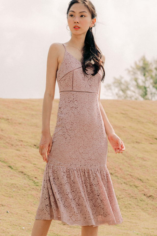 EMORY LACE MIDI IN PINK
