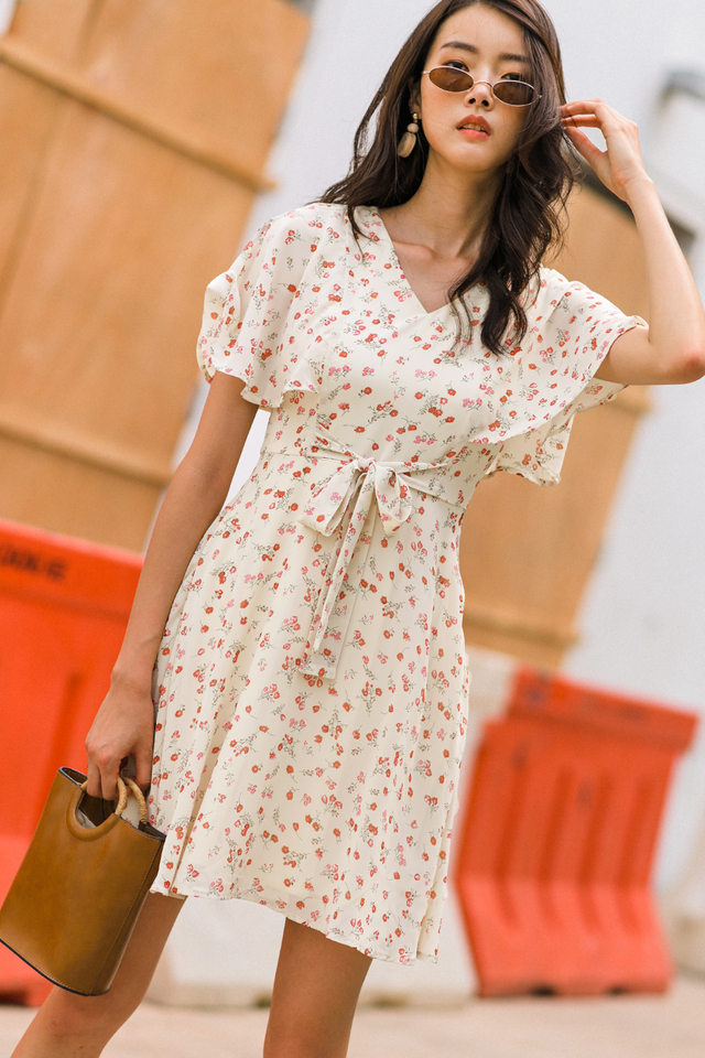 GENEVA DRESS IN CREAM