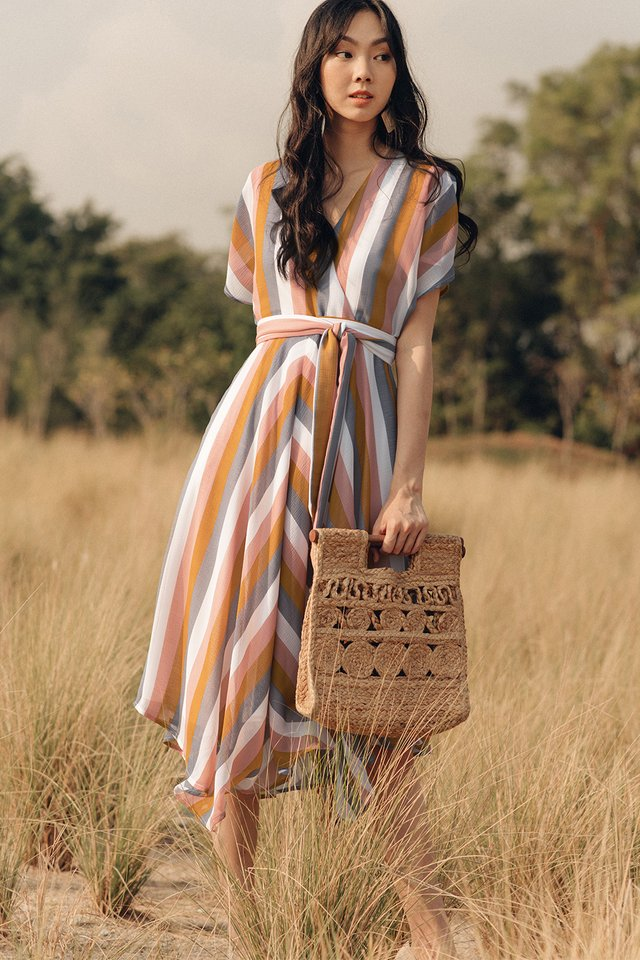 *BACKORDER* AUBREE STRIPED MIDI