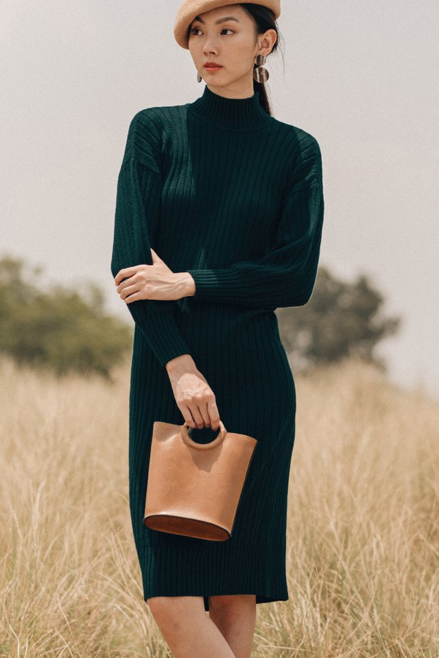 DURHAM KNIT MIDI IN FOREST
