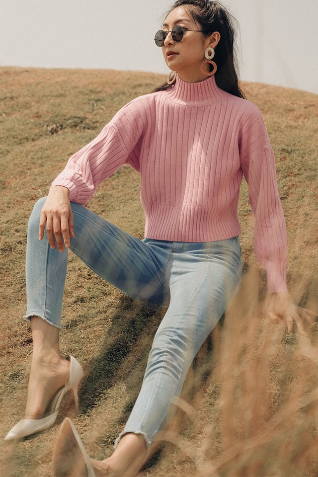 *RESTOCKED* DURHAM SWEATER IN PINK