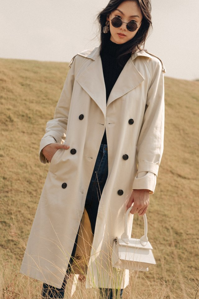 *RESTOCKED* ELLE TRENCH COAT IN BEIGE