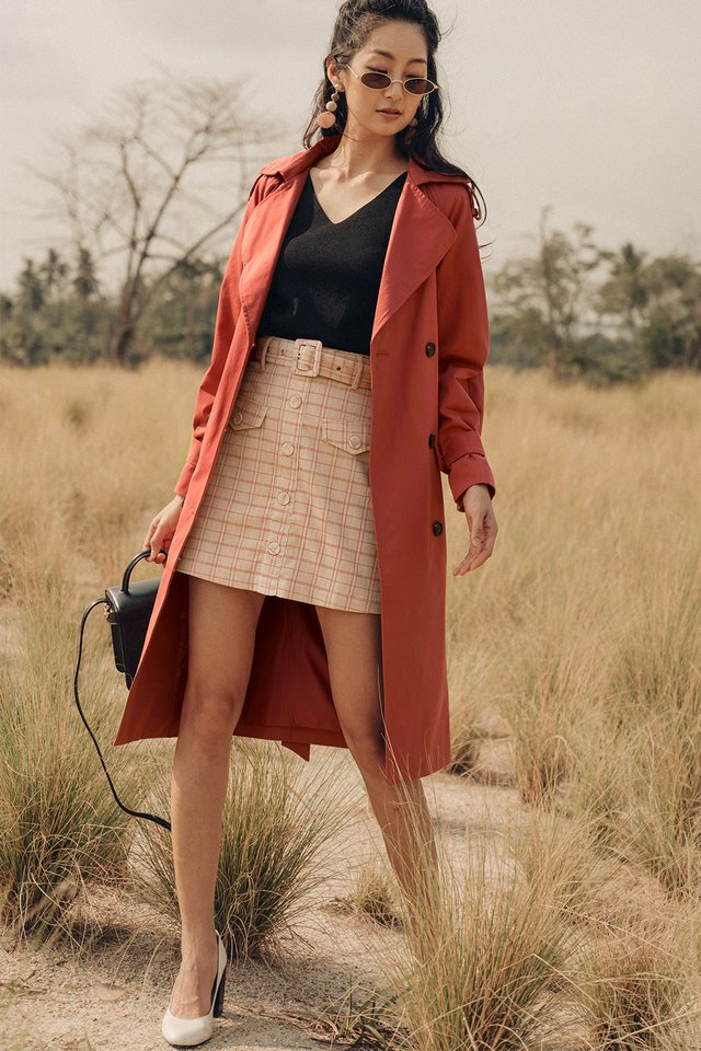 ELLE TRENCH COAT IN SIENNA