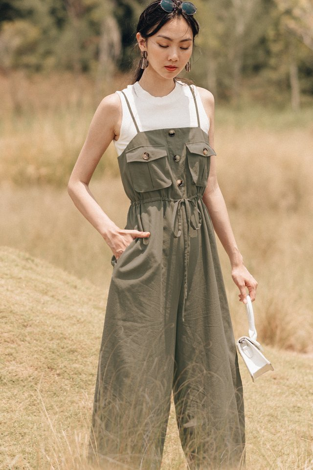 ELTHEA JUMPSUIT IN OLIVE