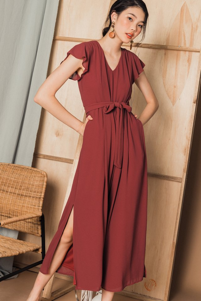 JENETH JUMPSUIT IN DUSK ROSE