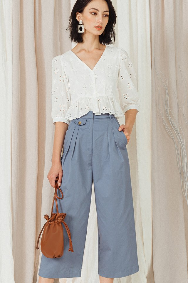 ALDRIDGE CULOTTES IN ASH BLUE