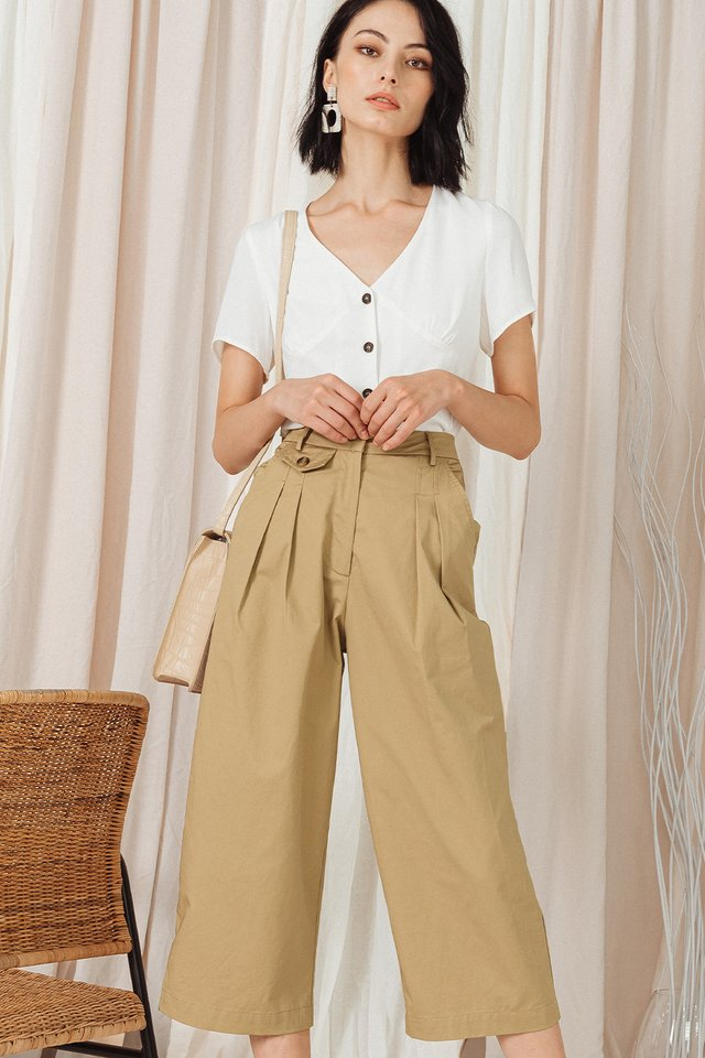 ALDRIDGE CULOTTES IN KHAKI