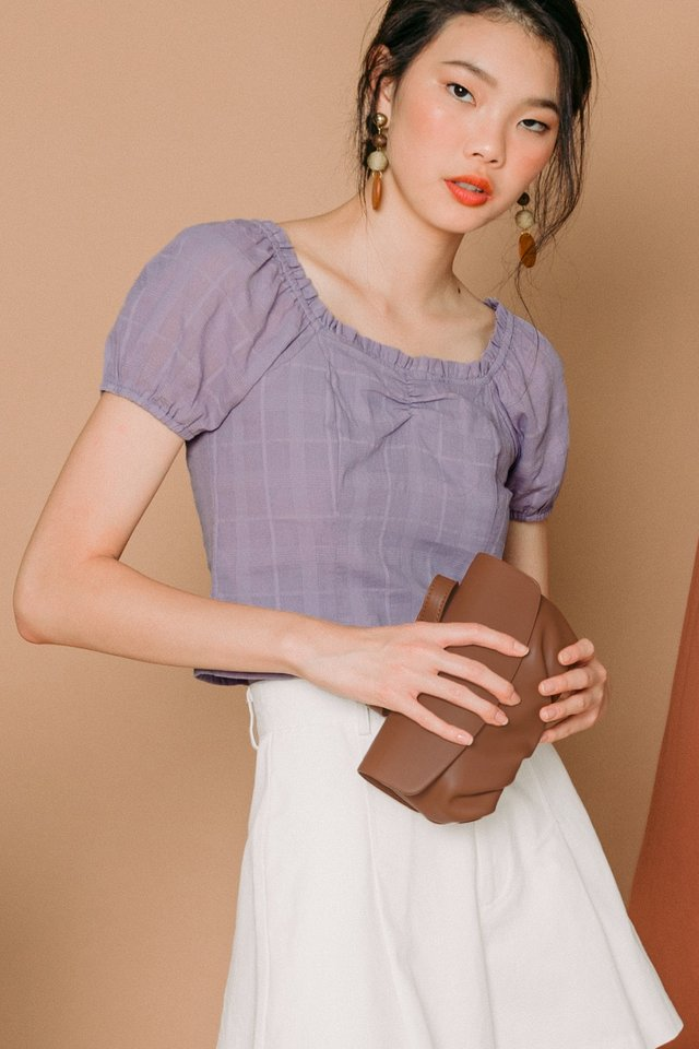 JADEN OFF SHOULDER TOP IN LAVENDER