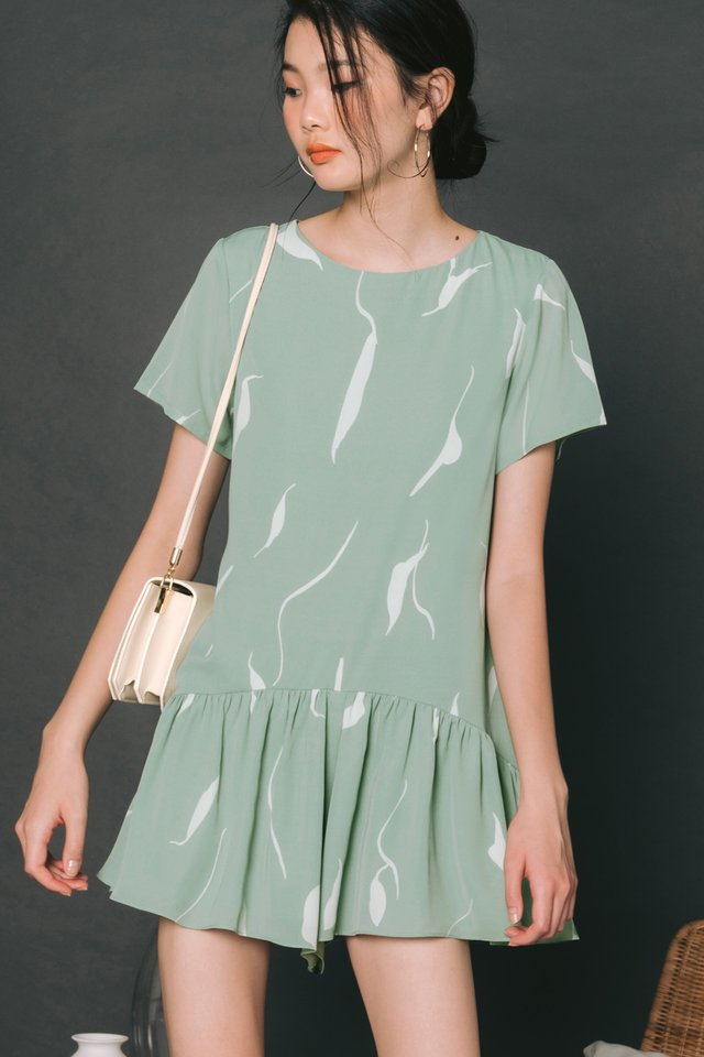 PEYTON DRESS PLAYSUIT IN SEAFOAM