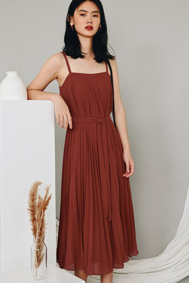 *RESTOCKED* AUDELIA PLEAT MAXI IN MARSALA