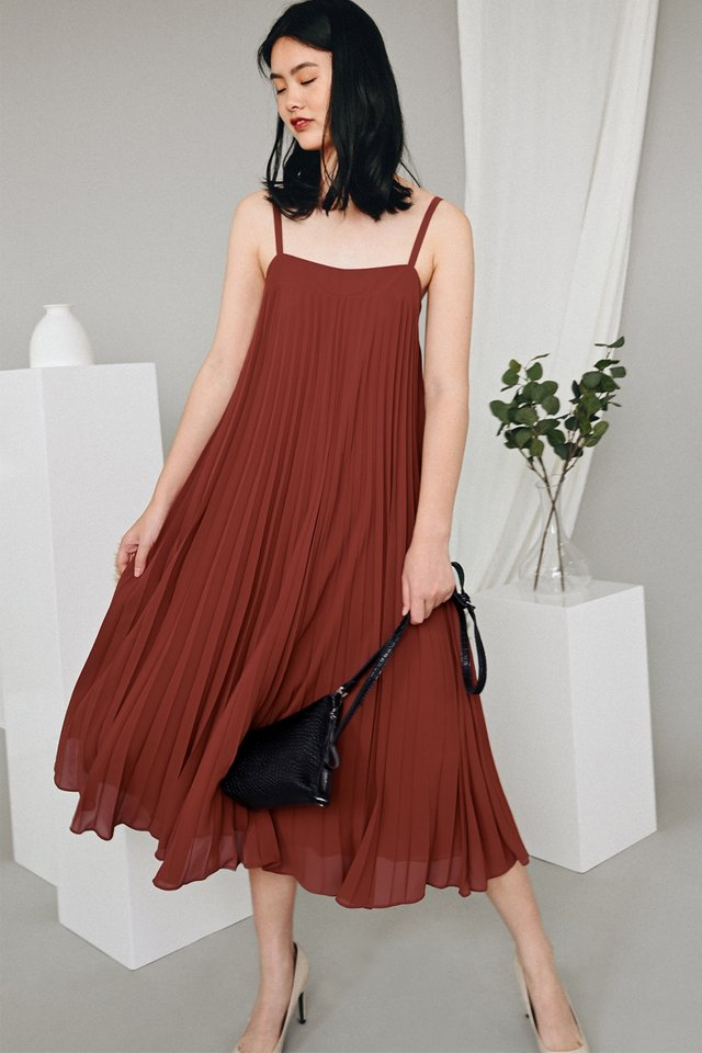 *BACKORDER* AUDELIA PLEAT MAXI IN MARSALA