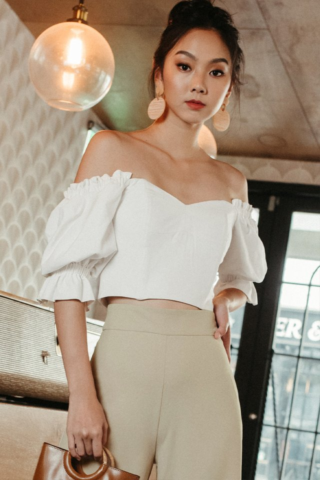 *BACKORDER* BERTHA OFF SHOULDER TOP IN WHITE