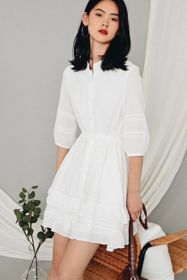 *BACKORDER* KELLIAH DRESS IN WHITE