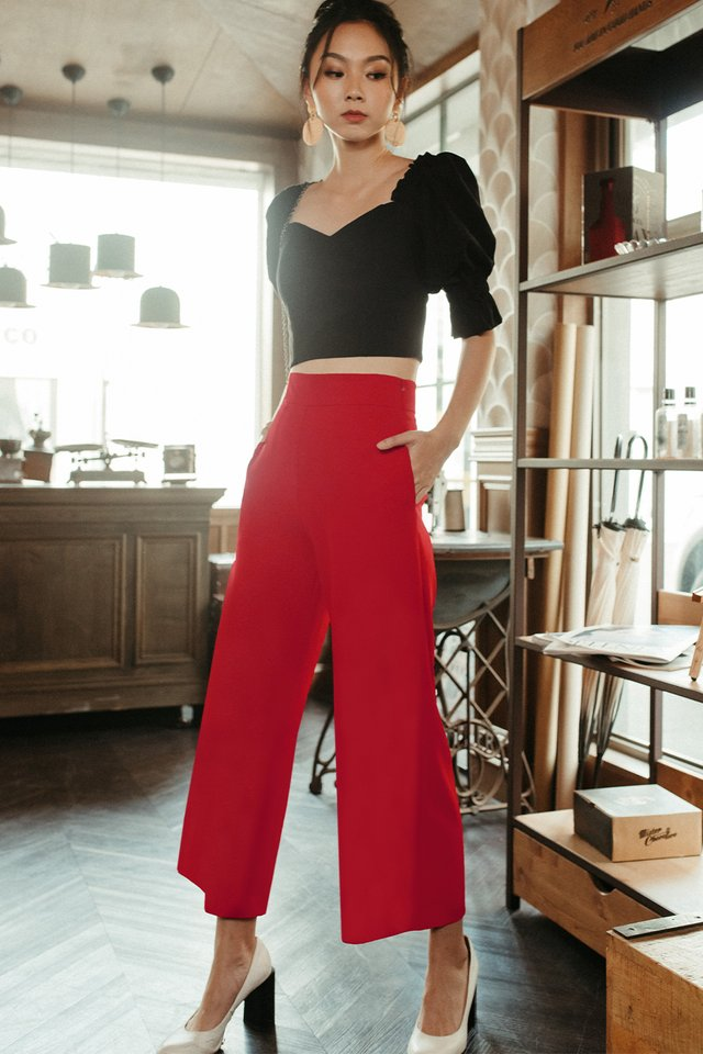 *RESTOCKED* LANGDON PANTS IN RED