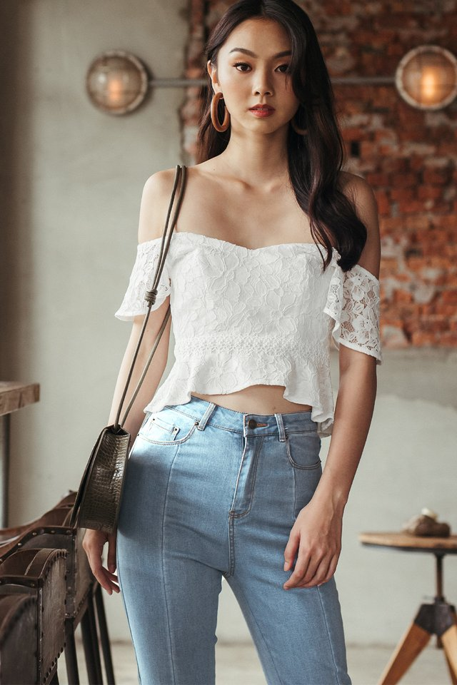 *RESTOCKED* CHANNAY LACE TOP IN WHITE