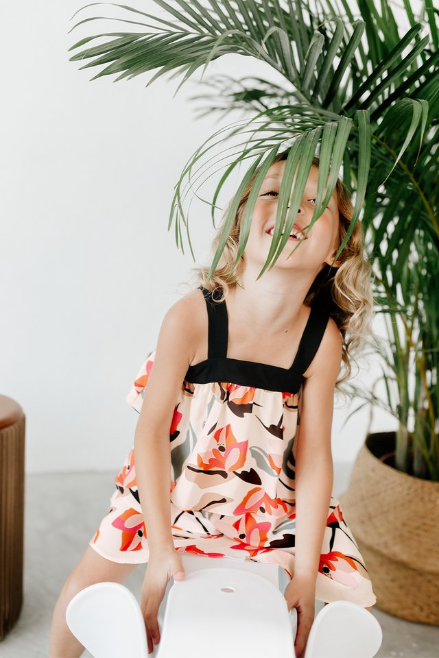*KIDS* KYLO TIERED DRESS IN CREAM