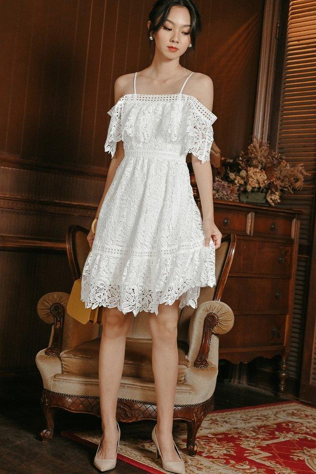 KADEE CROCHET DRESS IN WHITE