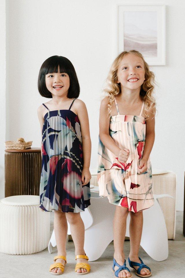 *KIDS* AUDELIA FLORAL DRESS IN NAVY