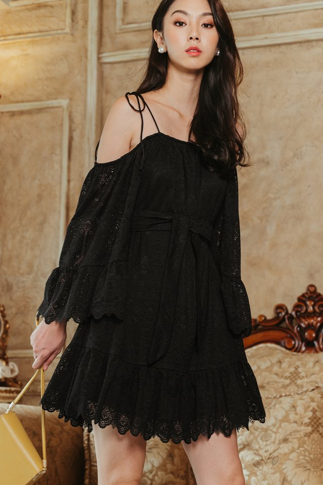 PACHO LACE DRESS IN BLACK
