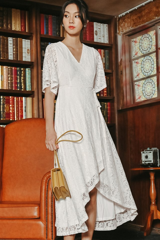 ROWAN LACE MAXI IN WHITE