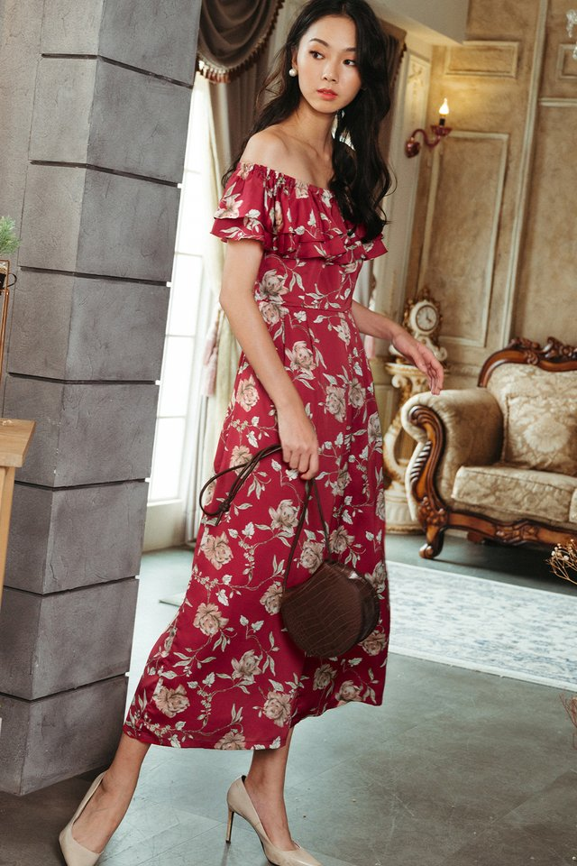 WINDFLOWER JUMPSUIT IN RED