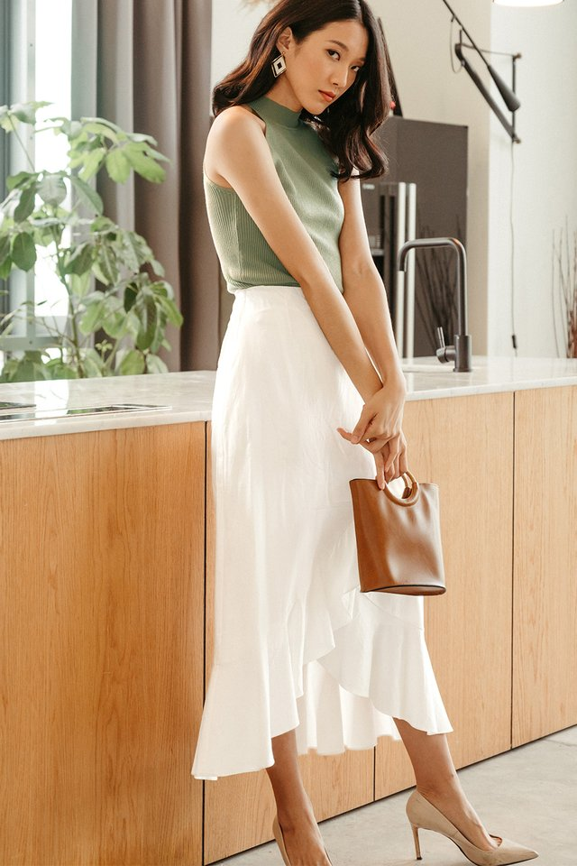 MAREK LINEN MAXI IN WHITE