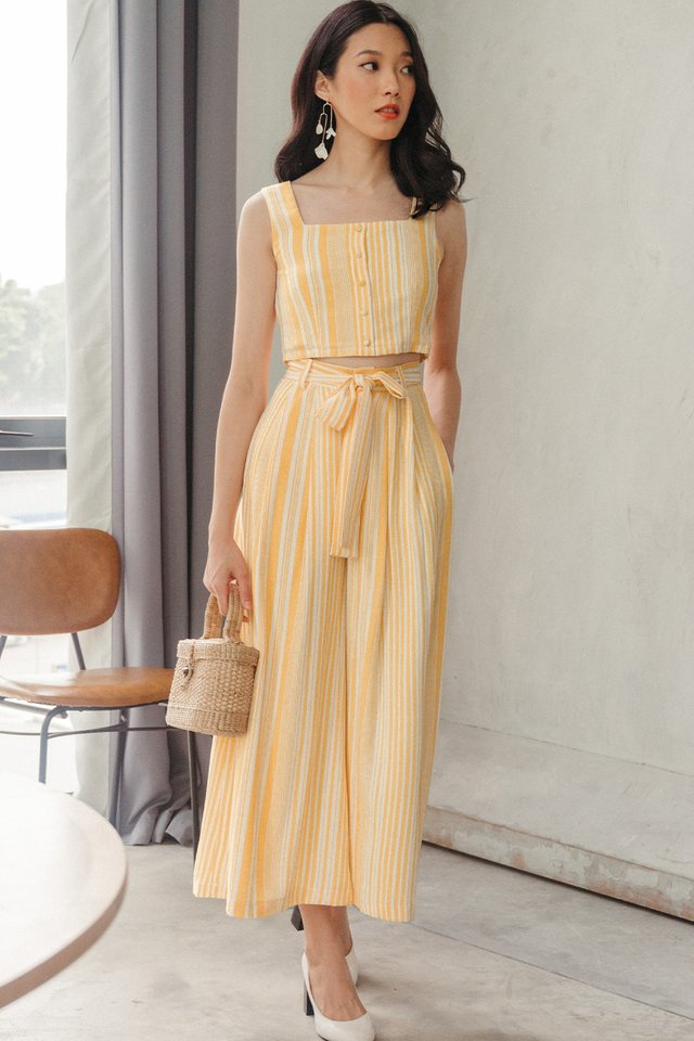 PARKER STRIPED PANTS IN MARIGOLD