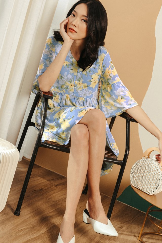 HIRA BABYDOLL DRESS IN BLUE