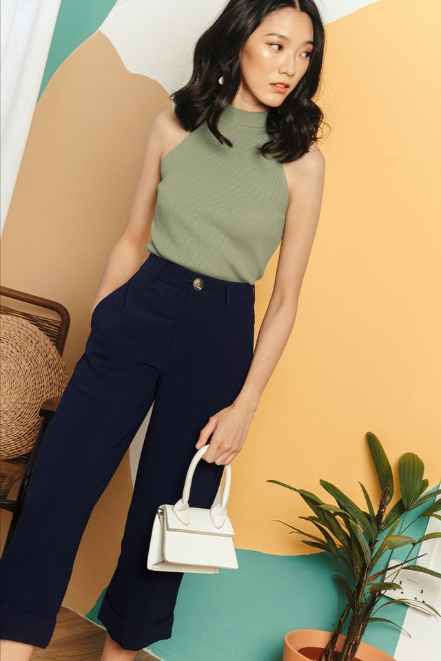 *BACKORDER* KYNA CUFFED CULOTTES IN NAVY