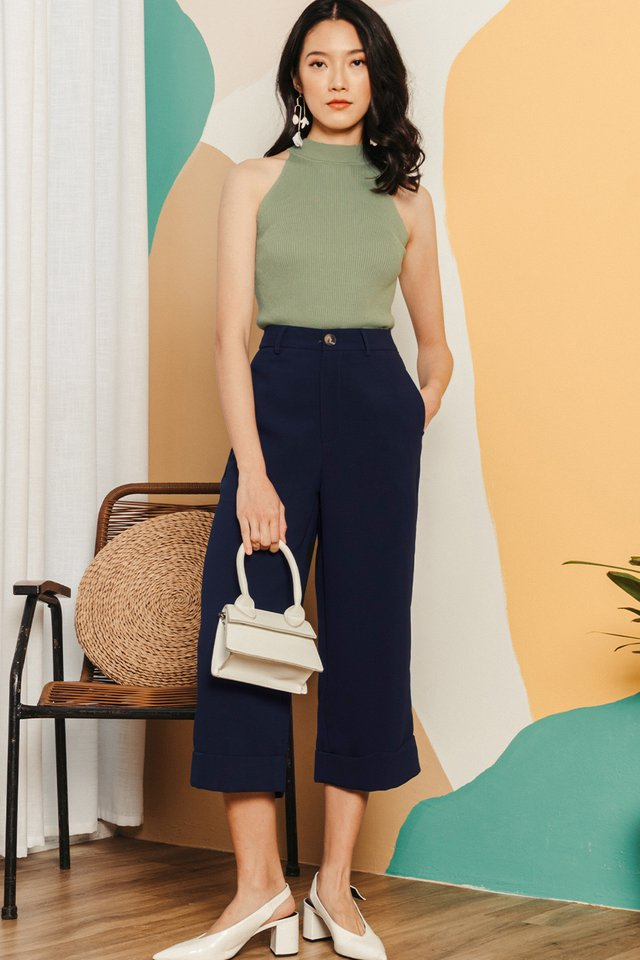 *RESTOCKED* KYNA CUFFED CULOTTES IN NAVY