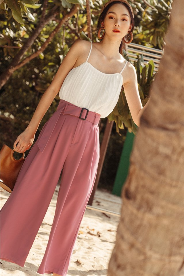 *RESTOCKED* LYNDON BUCKLE PANTS IN ROSE