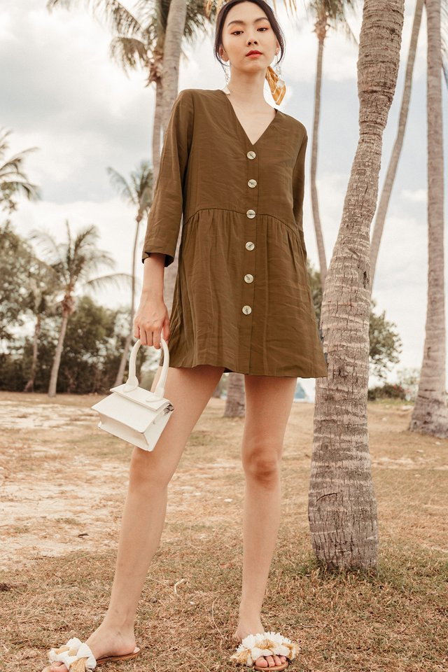 DAVEY PLAYSUIT DRESS IN SEPIA