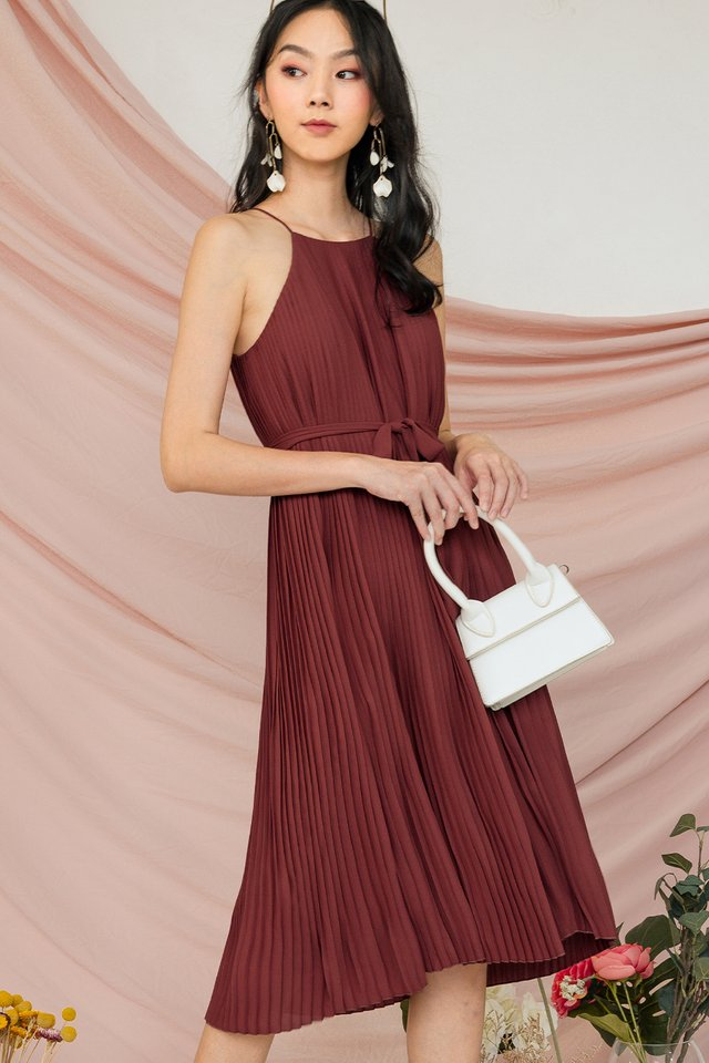 COLETTE PLEAT MIDI IN DUSK ROSE