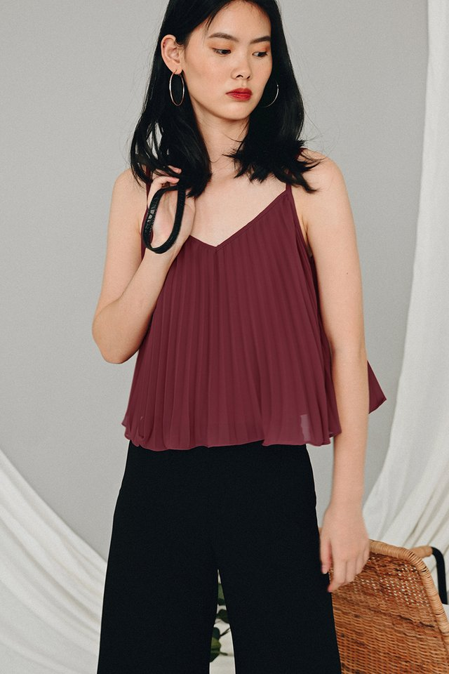 *RESTOCKED* AUDELIA PLEAT TOP IN DUSK ROSE