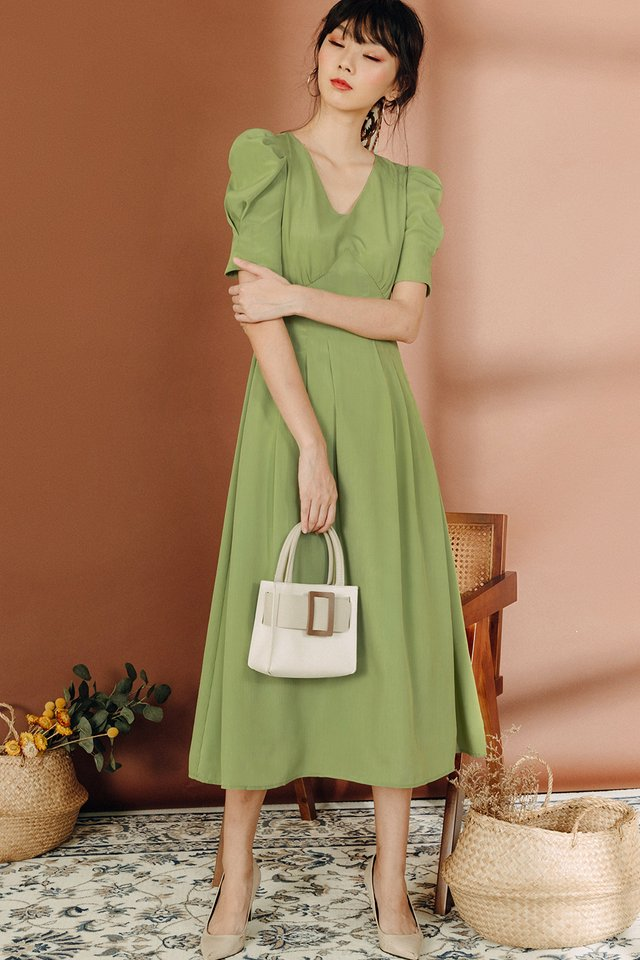 KHATIE MAXI IN APPLE GREEN