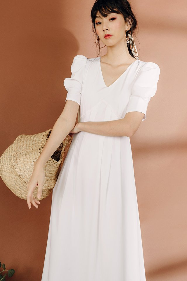 KHATIE MAXI IN WHITE