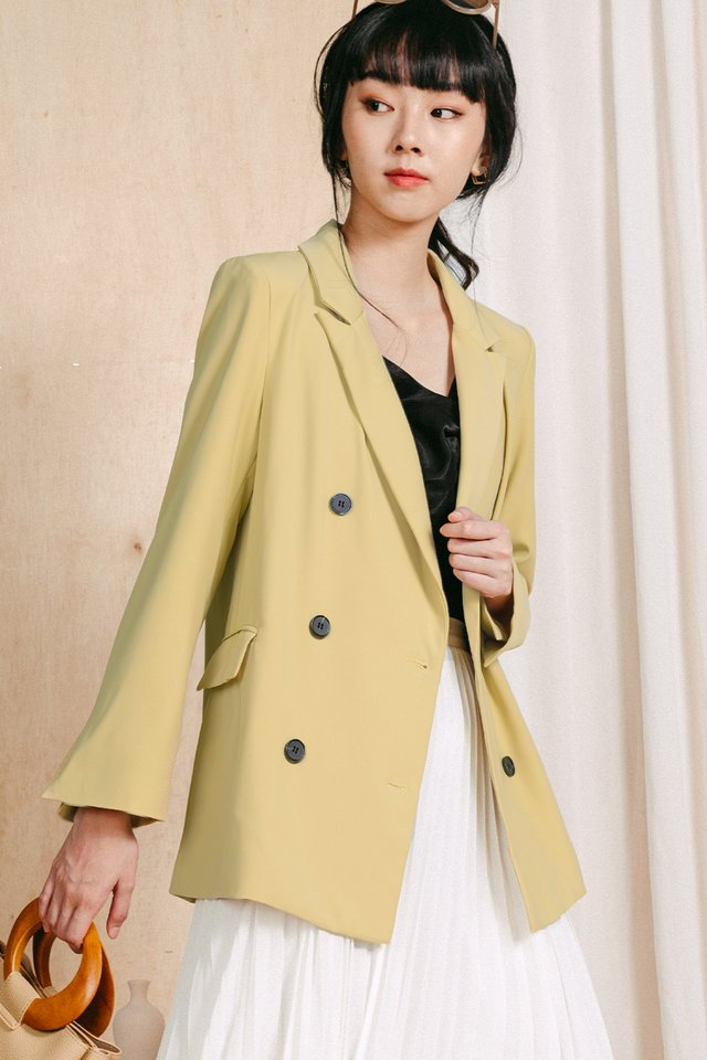 *RESTOCKED* GABE BLAZER IN MELLOW YELLOW