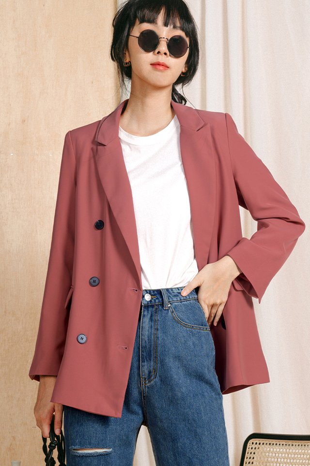 *RESTOCKED* GABE BLAZER IN ROSE