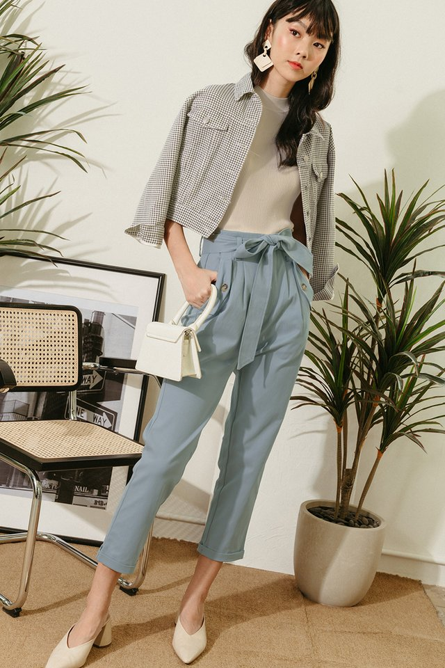 KAIA PANTS IN ASH BLUE