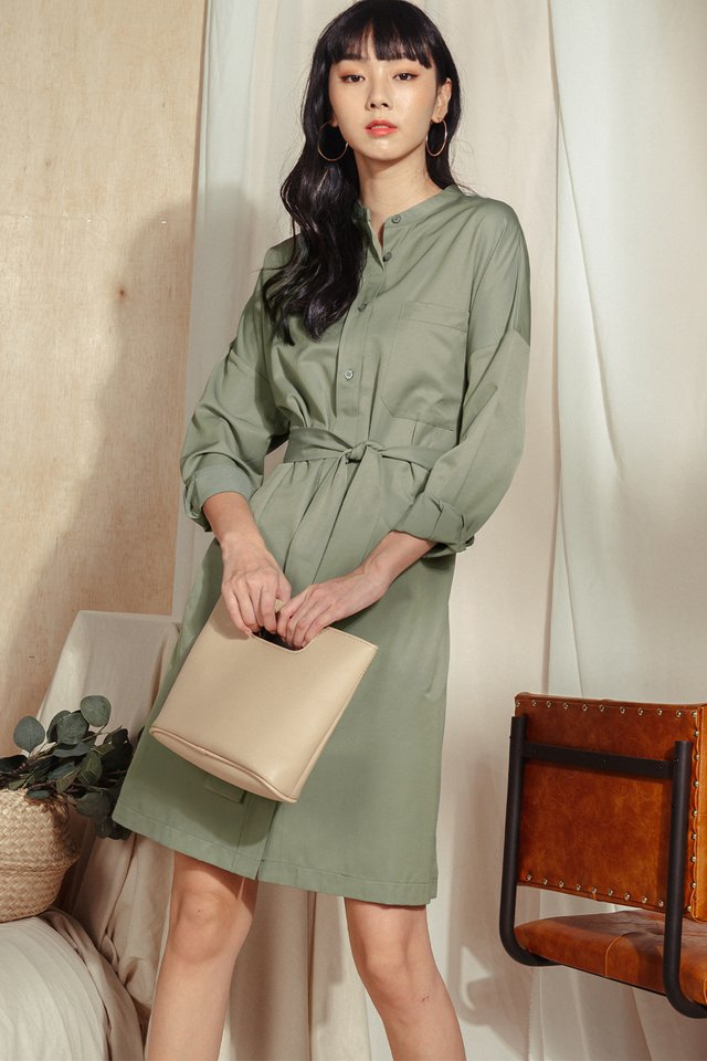 *BACKORDER* KEILY SHIRT MIDI IN DUSK OLIVE