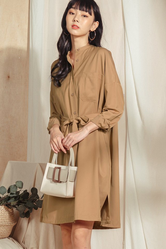 KEILY SHIRT MIDI IN MAPLE
