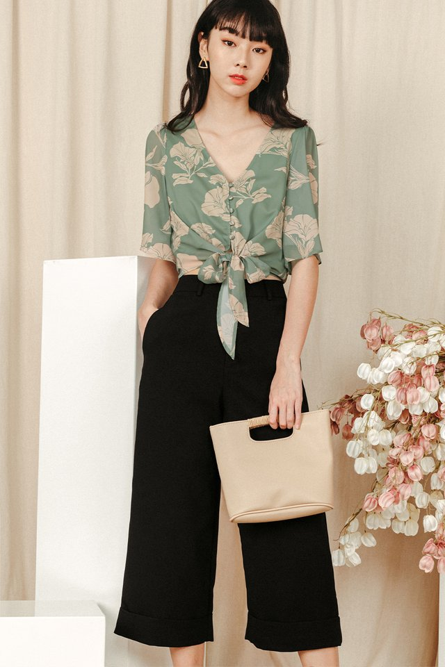 KYNA CUFFED CULOTTES IN BLACK