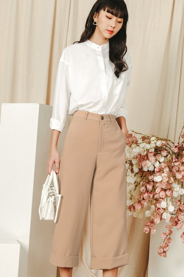 *RESTOCKED* KYNA CUFFED CULOTTES IN SAND