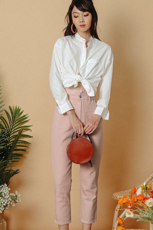 *RESTOCKED* BECCA PAPERBAG PANTS IN PINK